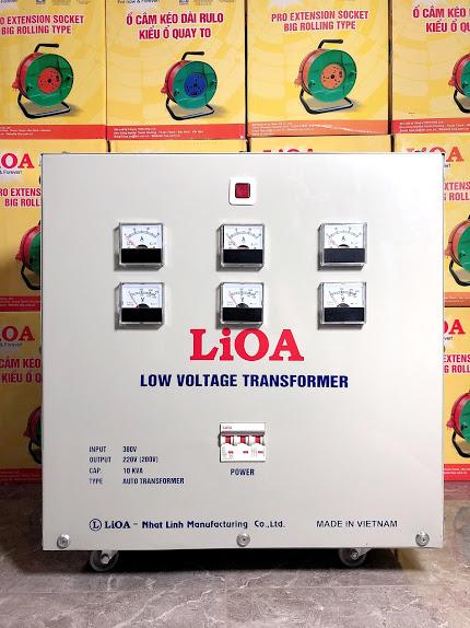 Biến áp đổi nguồn hạ áp 3 pha 10kva LiOA3K101M2YH5YT(loại Tự ngẫu)