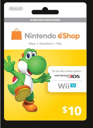 Thẻ Nintendo eShop Card 10$