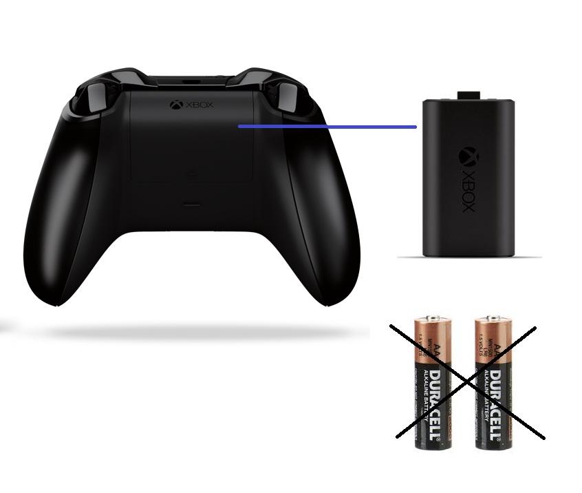 Pin sạc cho Tay Cầm Xbox Microsoft + Cáp Type C