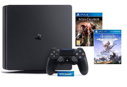 PS4 Slim 500Gb - 2 Game Horizon Complete_Soulcalibur VI