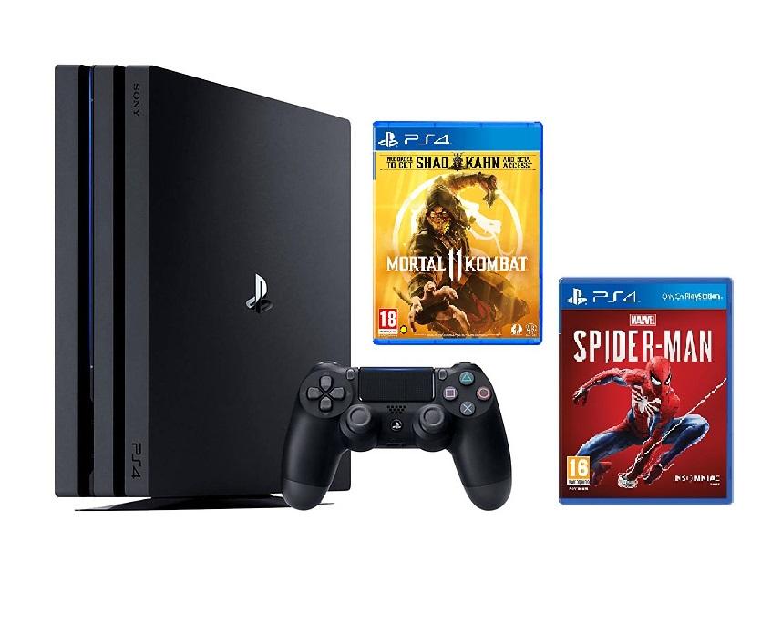 Máy PS4 Pro 1TB + Tặng 2 đĩa game MK11 và Spider Man
