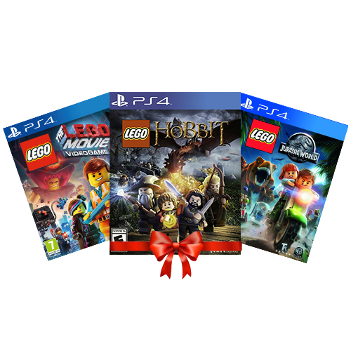 Combo Lego Game PS4 Collection ( Hobbit + Jurassic + Movie Video )
