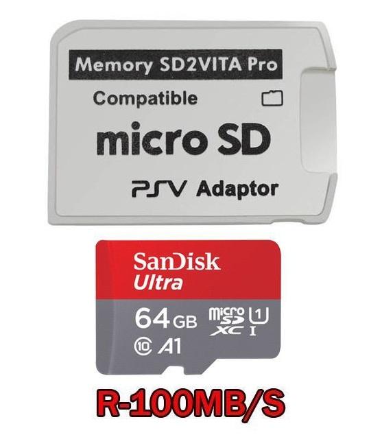 Thẻ nhớ SanDisk Ultra 64GB micro SD + Áo thẻ PSV 2.0
