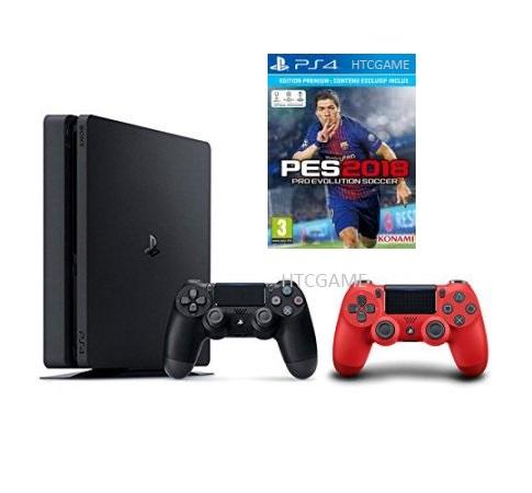 Máy PS4 Slim 500G + 2 Tay + Game PES2018