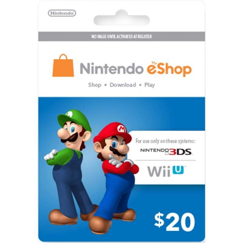Thẻ Nintendo eShop Card 20$