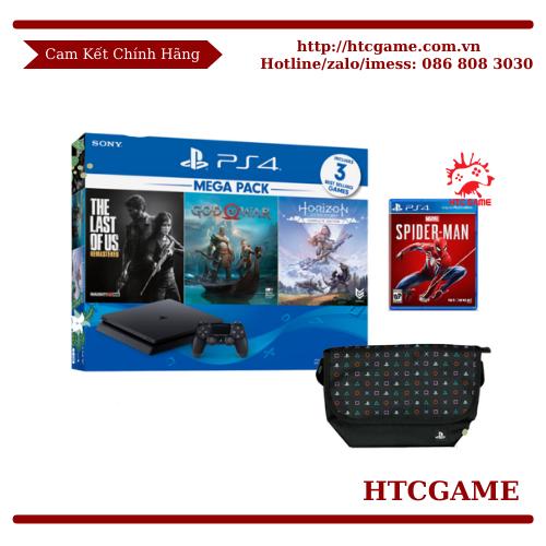 PS4 Slim Mega pack 1 TẶNG Game Spider Man + Túi Đeo