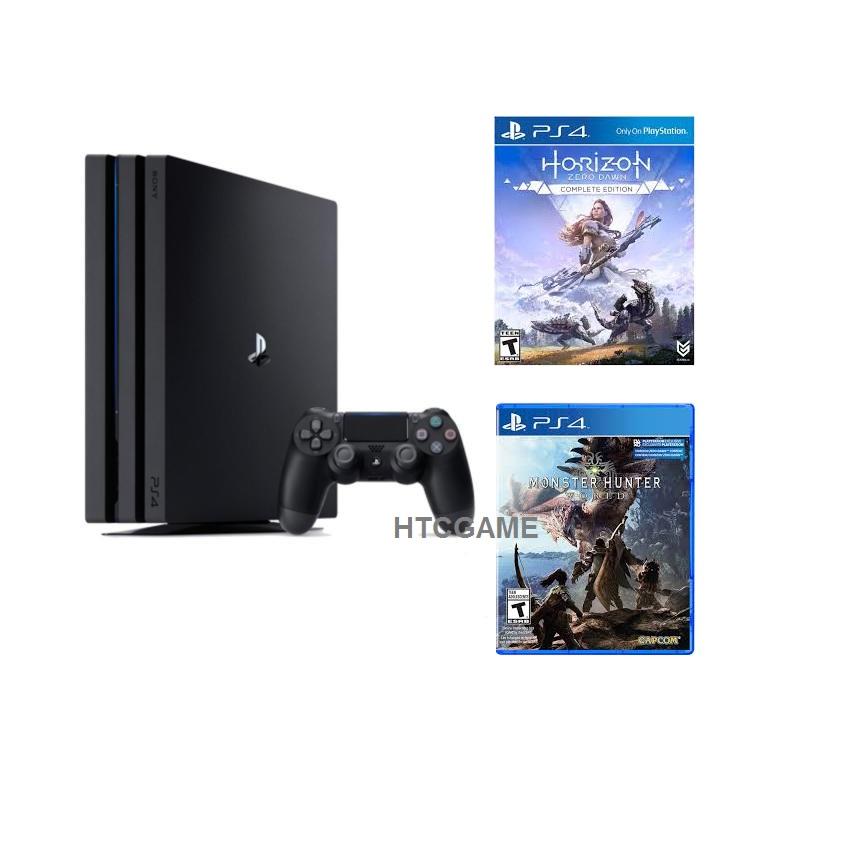 Sony PS4 PRO 4K 1TB + đĩa MHW và Horizon CE