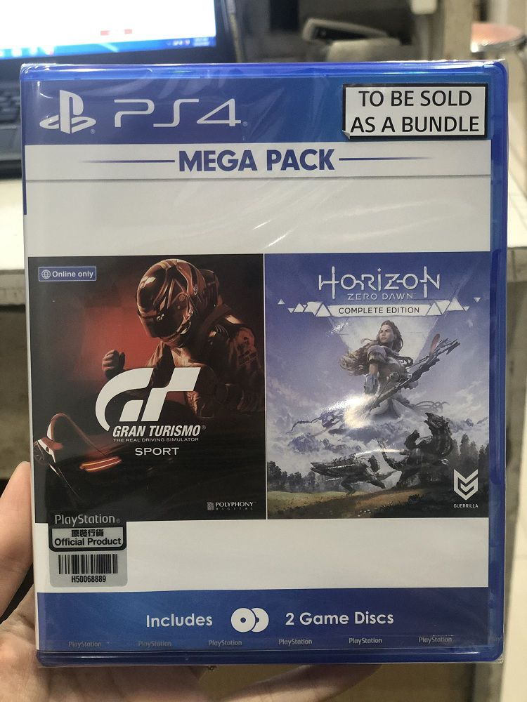 Bộ 2 đĩa Mega Pack (GT Sport+ Horizon Zero Dawn CE) - Game PS4