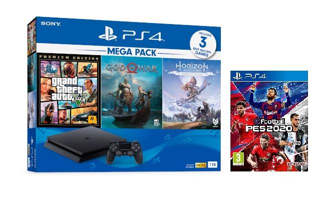PS4 Slim MEGA PACK 2 tặng PES 2020
