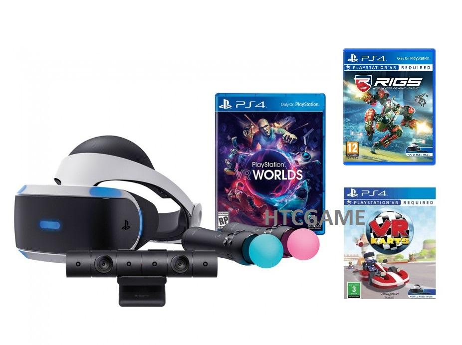 Bộ Kính thực tế ảo Sony PSVR2 Kèm Camera + 02 PS Move Motion + 3 Đĩa Game VR PS4
