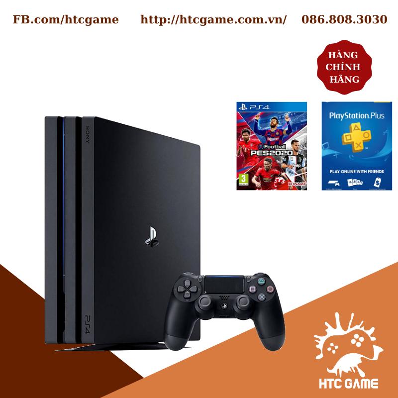 Máy PS4 PRO 1TB + PES20 Digital + Plus 12 tháng ASIA