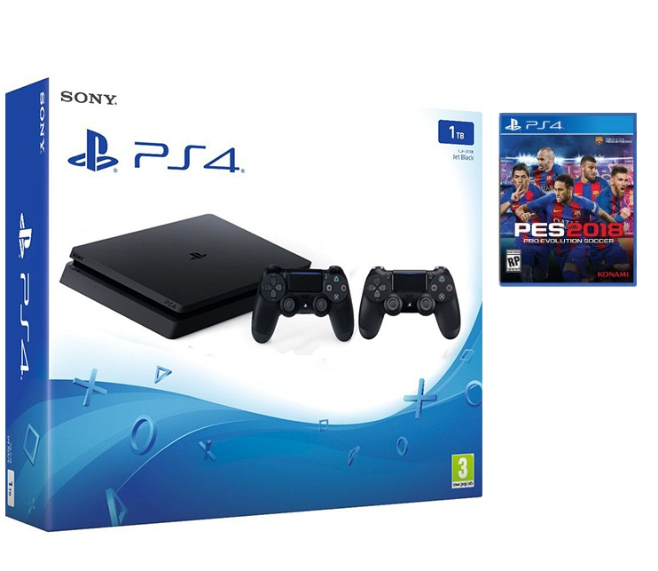 Combo: PS4 1tb + 2 Tay Dualshock + PES 2018 (2nd)