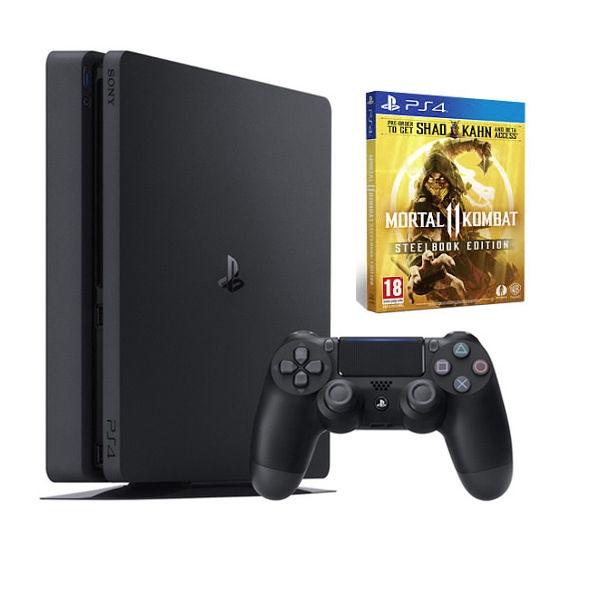 Máy PS4 Slim 1TB + Đĩa Game Mortal Kombat 11