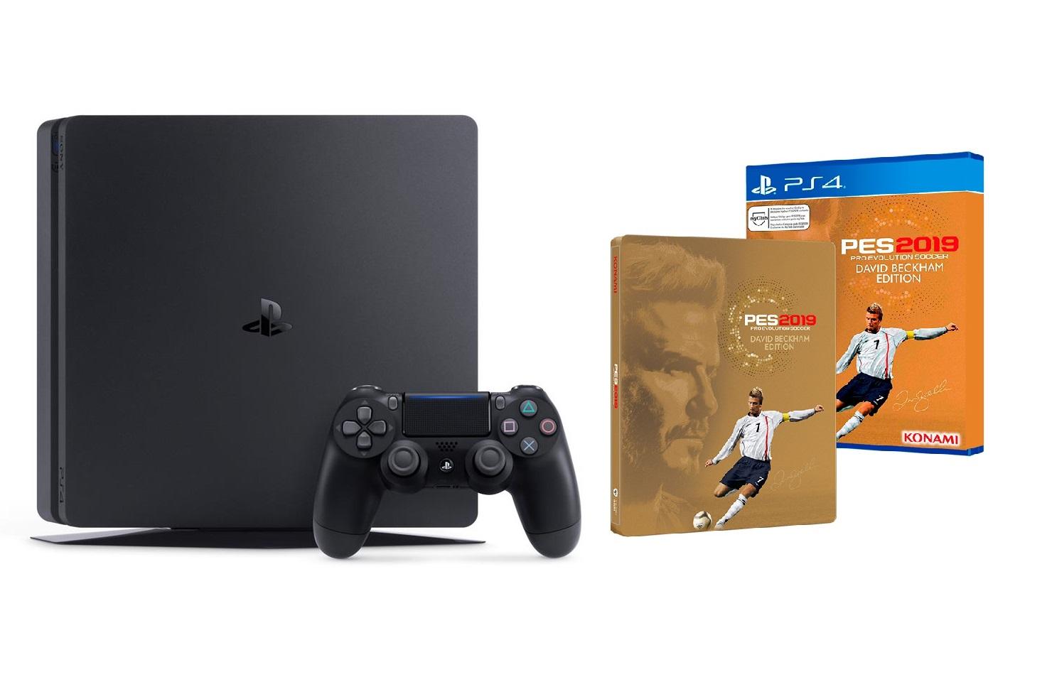 Máy PS4 Slim 500GB + PES 2019 David Beckham
