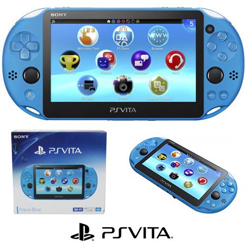PSV 2000 Aqua Blue New100% Máy chơi game cầm tay 2K