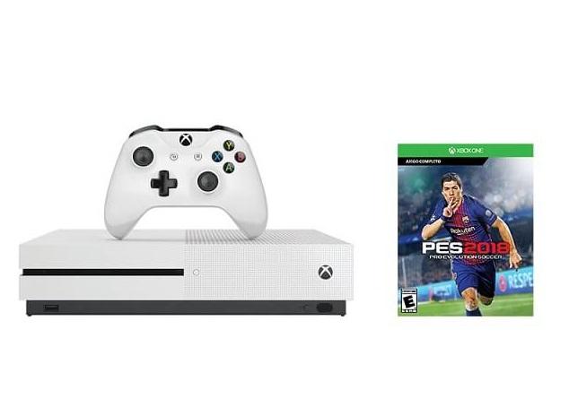 Máy chơi game Xbox One S 4K HDR 500Gb kèm đĩa PES 2018 (+ thẻ Live GOLD 3 tháng)