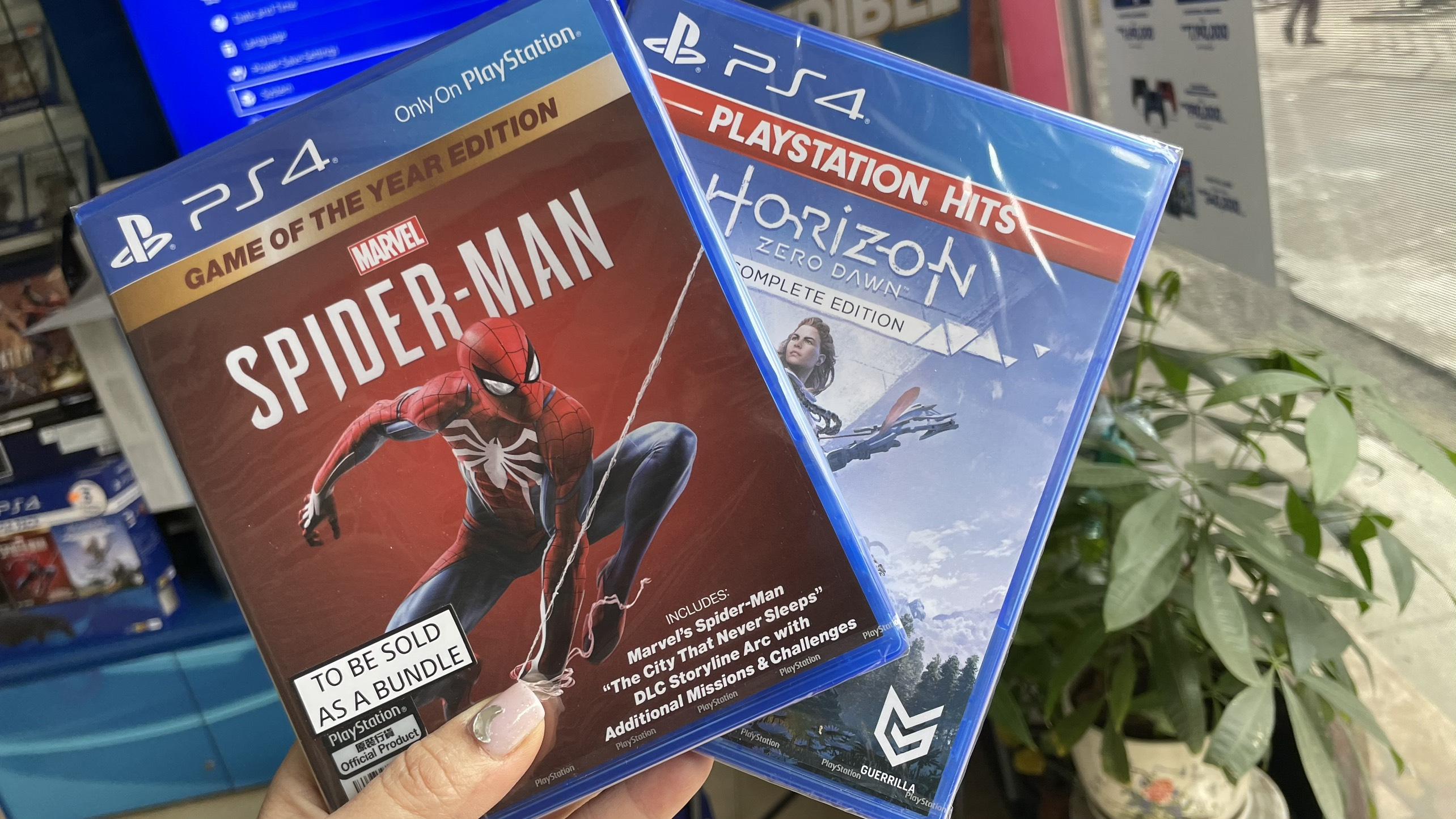 Bộ 2 đĩa gameSpiderman GOTY  Horizon Zero Dawn CE - Game PS4