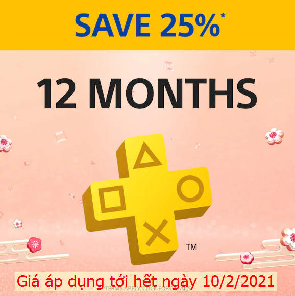 PSN Plus 12 tháng ASIA Sale New Year
