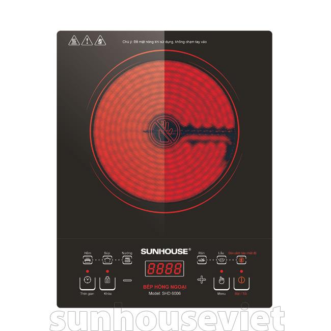 Bếp hồng ngoại cảm ứng đơn Sunhouse SHD6006