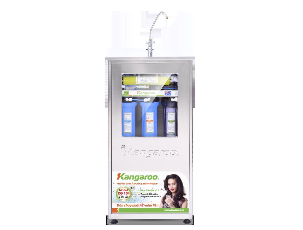 Máy lọc nước Kangaroo R.O 7 lõi KG104 vỏ Inox