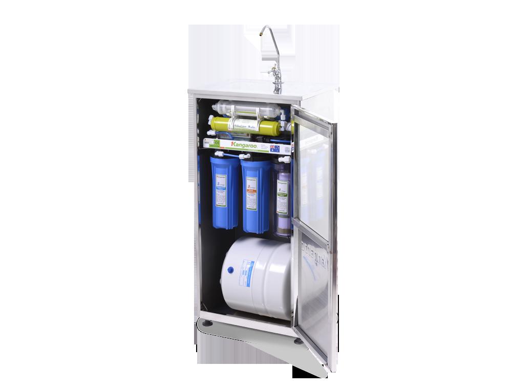 Máy lọc nước Kangaroo R.O 7 lõi KG104 vỏ Inox, đèn UV