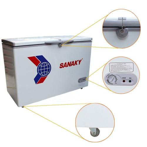 Tủ đông Sanaky VH-2599A1 dàn đồng, 1 ngăn đông, 2 cánh tồn tại