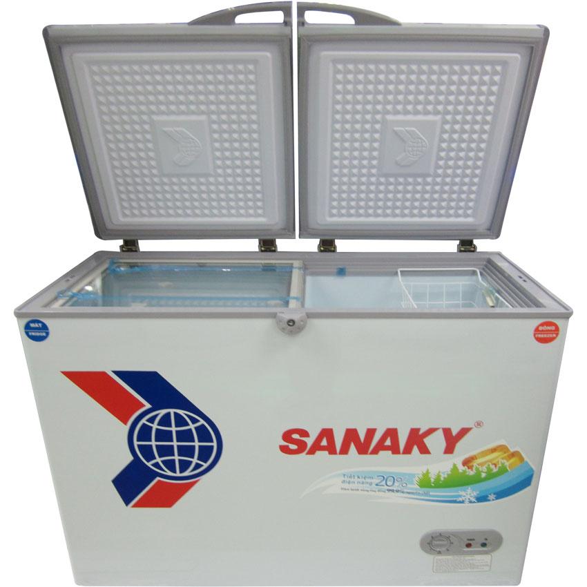 Tủ đông dàn đồng Sanaky VH-3699W1 2 ngăn đông/mát, 2 cánh tồn tại