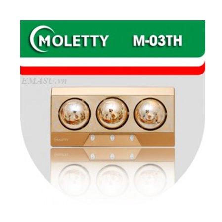 ĐÈN SƯỞI NHÀ TẮM MOLETTY M-03TH 3 bóng treo tường mặt nhôm aluminium