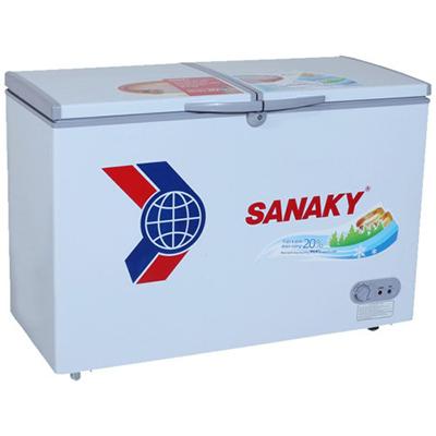 Tủ đông dàn đồng Sanaky VH-4099W1, 2 ngăn đông/mát, 2 cánh tồn tại