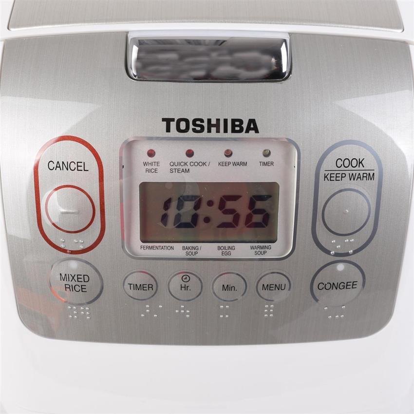 Nồi cơm điện tử Toshiba RC-18NMFWTVN 1.8 lít Trắng