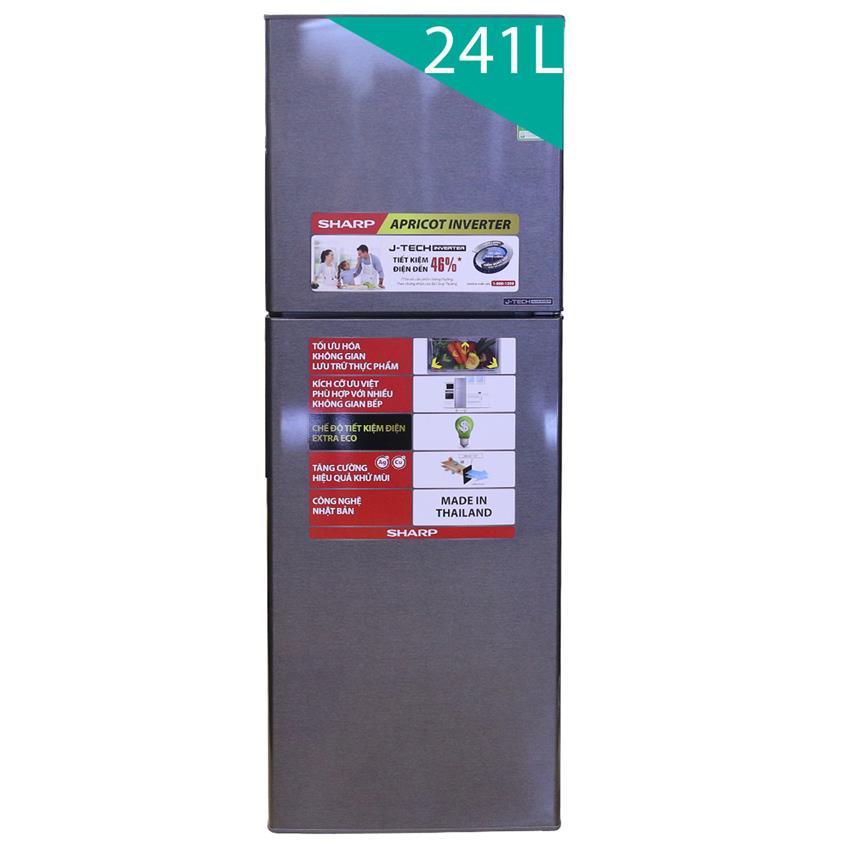 TỦ LẠNH SHARP SJ-X251E-DS Màu bạc sọc sẫm tồn tại