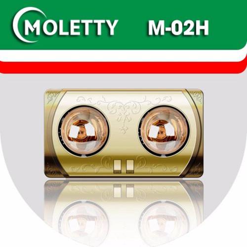 ĐÈN SƯỞI NHÀ TẮM MOLETTY M-02H 3 bóng treo tường mặt nhựa