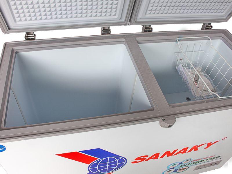 Tủ đông Sanaky Inveter VH - 3699A3 dàn đồng loại 1 ngăn đông tồn tại