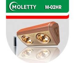 ĐÈN SƯỞI NHÀ TẮM MOLETTY M-02HR 2 bóng treo tường có điều khiển từ xa