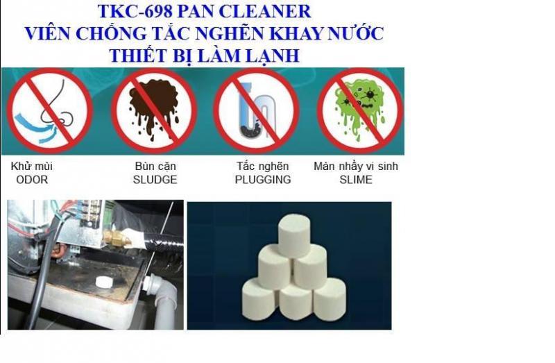 TKC - 698 PAN CLEANER viên diệt khuẩn và chống tắc nghẽn khay nước thiết bị làm lạnh