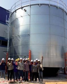 Bể chứa CST nhập khẩu sử dụng tấm thép phủ thuỷ tinh 105M3