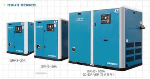 Hanshin air compressor without oil