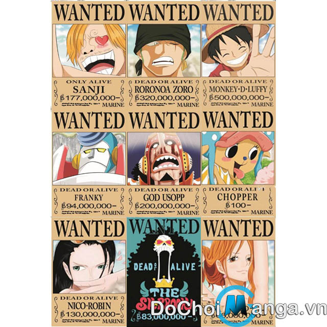 Bộ Poster One Piece MS 3
