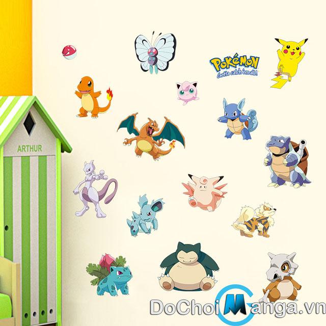 Bộ Tranh Dán Tường Pokemon