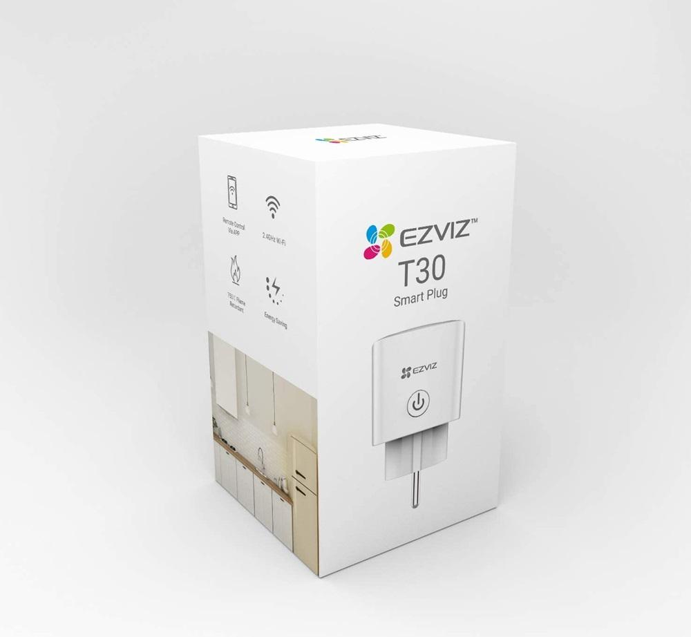 Ezviz T30-10B-EU   Ổ Cắm Thông Minh Wi-Fi Điều Khiển Bằng Giọng Nói