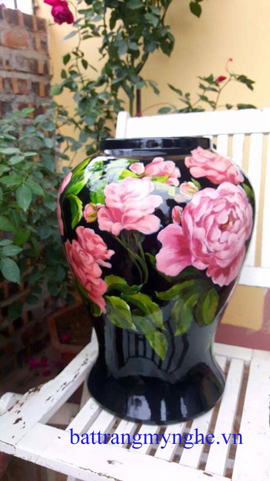Chóe vẽ hoa hồng cao 45cm