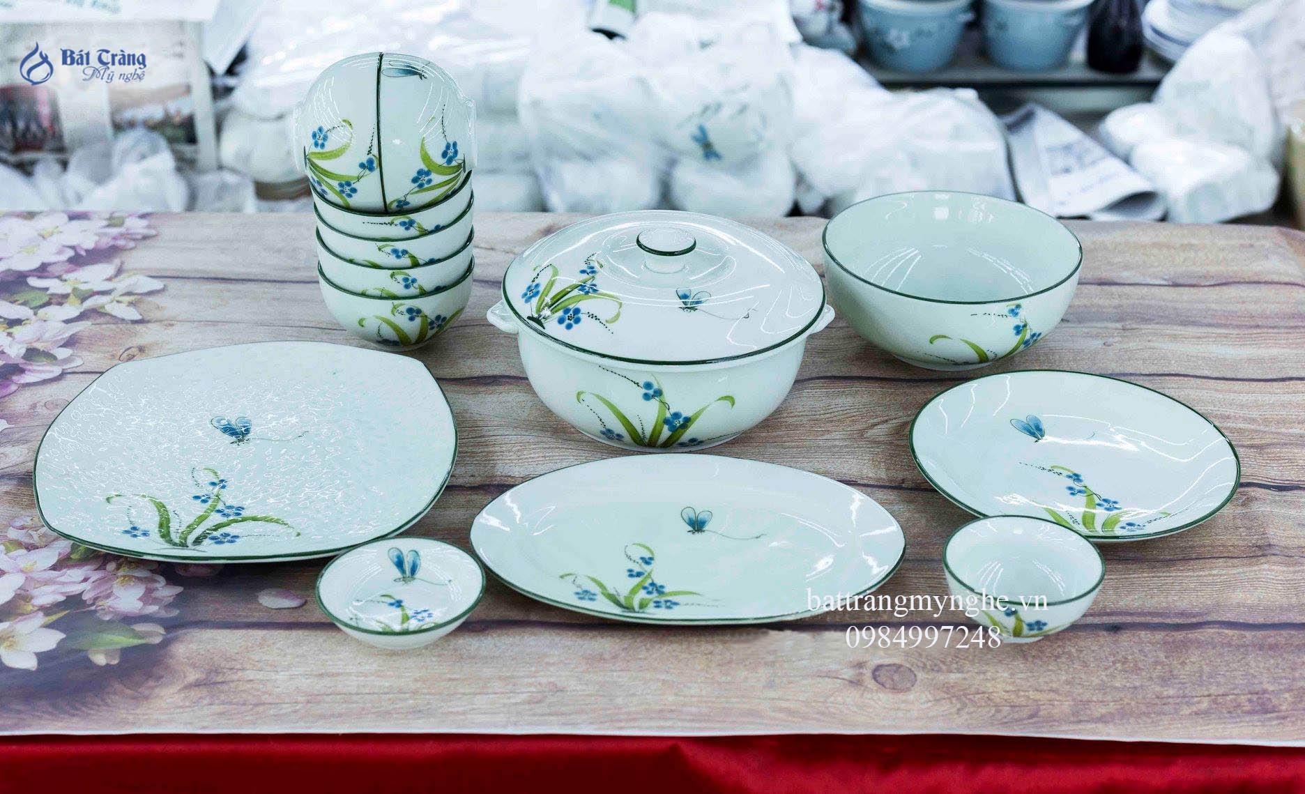 Bộ đồ ăn Đào Chuồn Ngọc