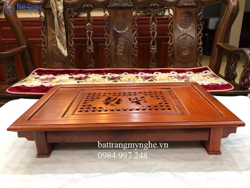 Khay gỗ hương cao cấp dài 56cm rộng 34cm