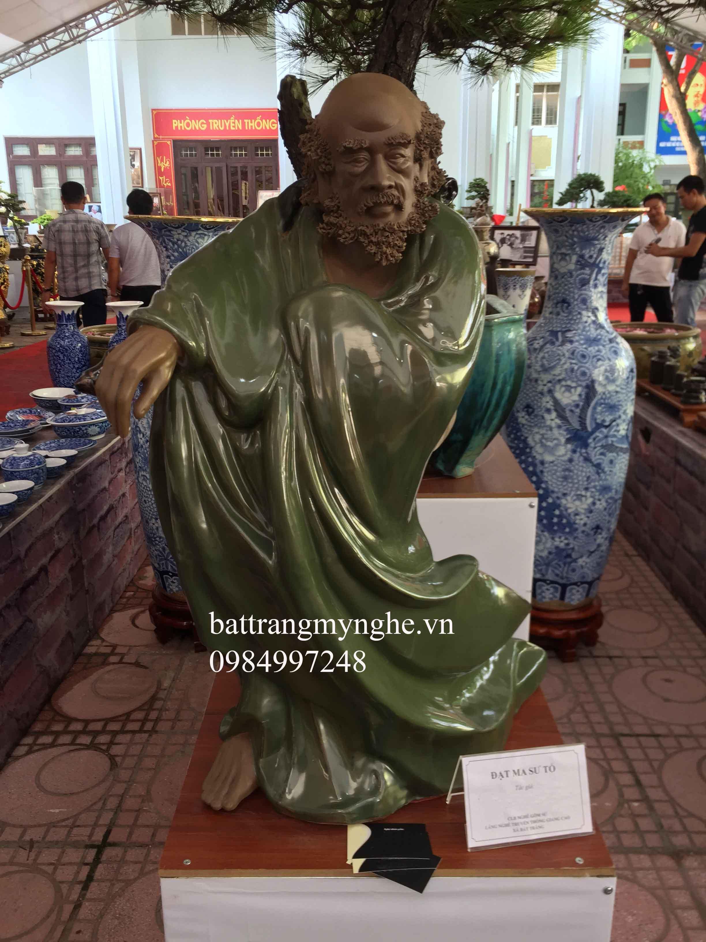 Tượng Đạt ma sư tổ cao 98cm