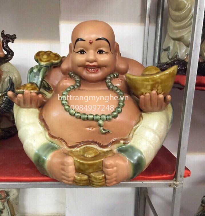 Tượng Phật Di Lăc Phú Quý Vinh Hoa cao 35 cm rộng 32 cm