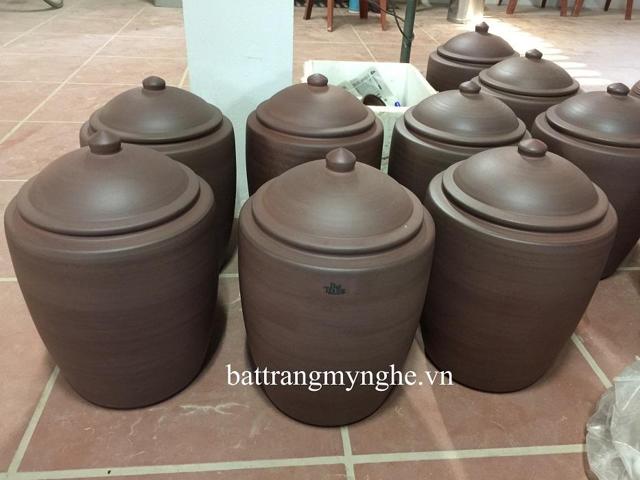 Hũ Sành đựng Gạo hàng trơn 18 kg