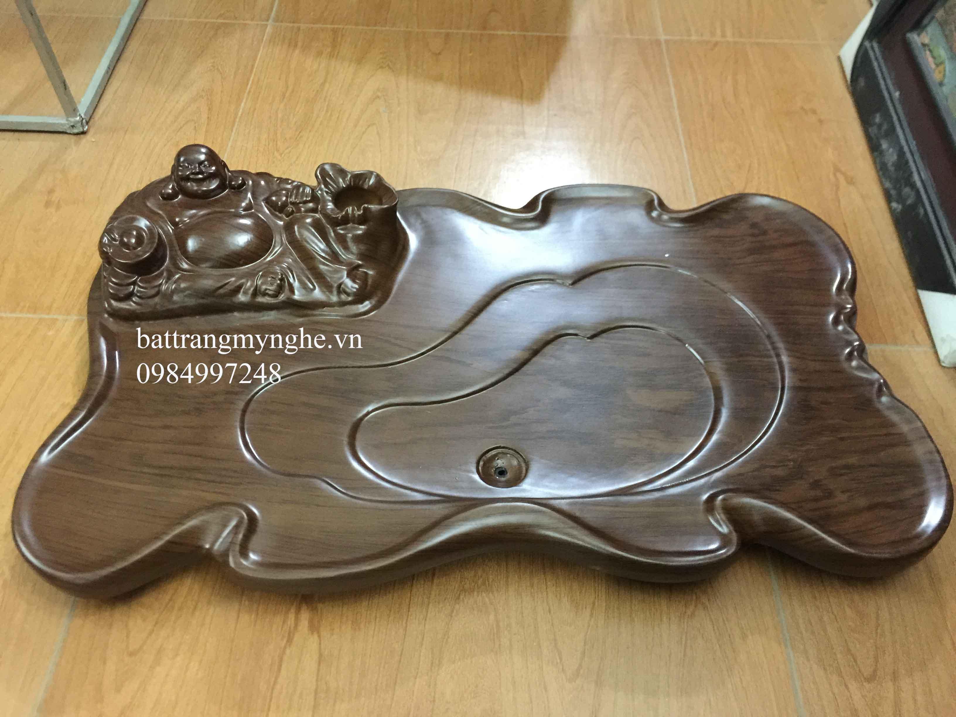 Khay gỗ to di lạc dài 80cm rộng 60cm