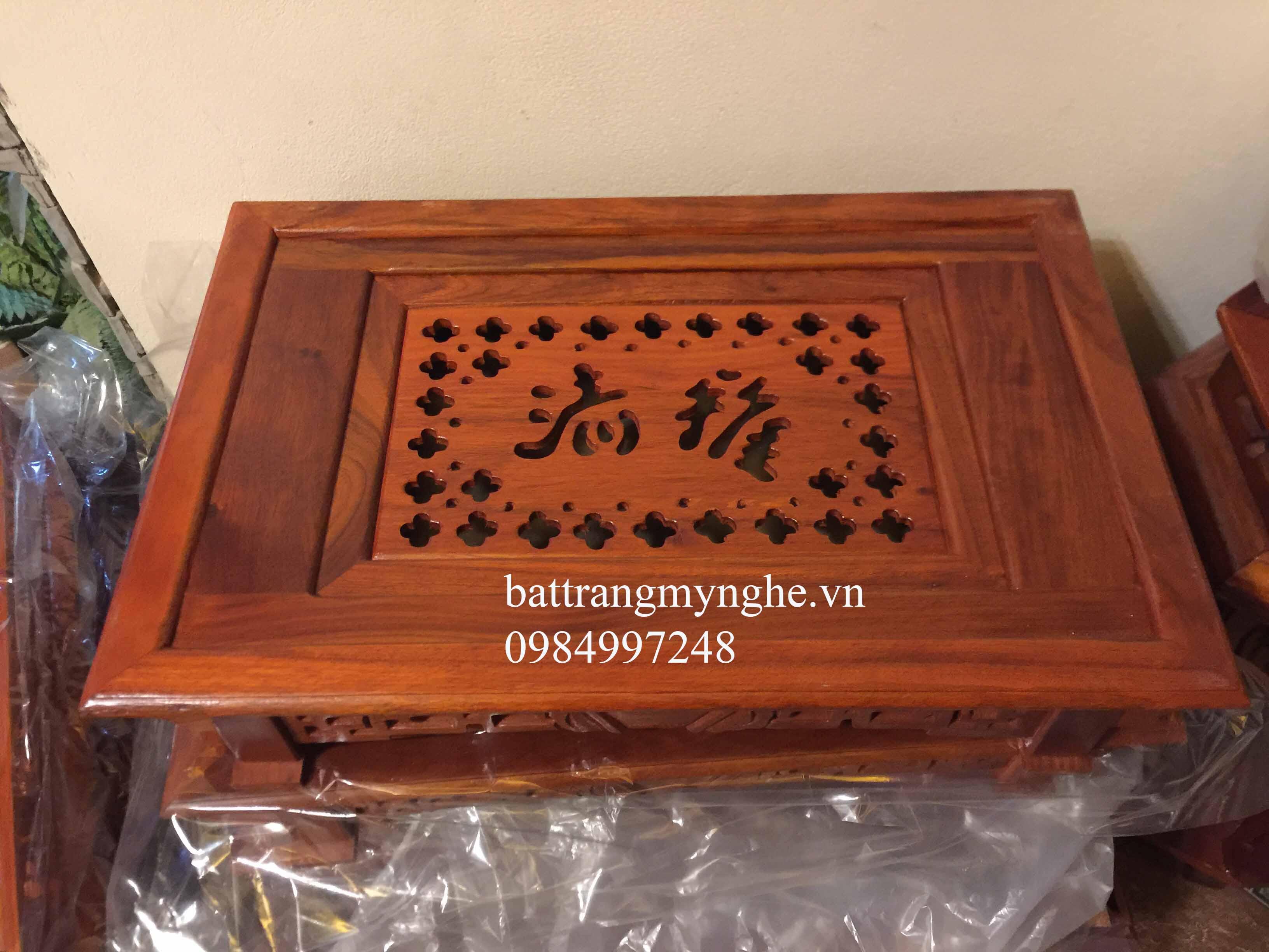 Khay gỗ hương cao cấp dài 60cm rộng 40cm