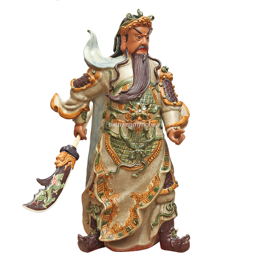 Tượng Quan Công - Men Rạn - Cao 90cm
