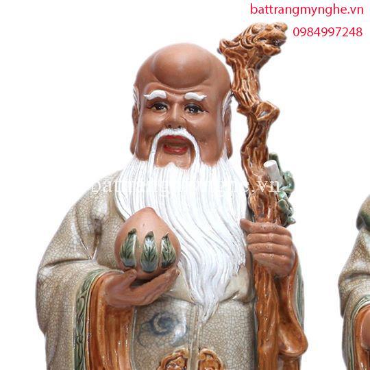 Tượng Tam Đa - men rạn cổ - 48x18cm